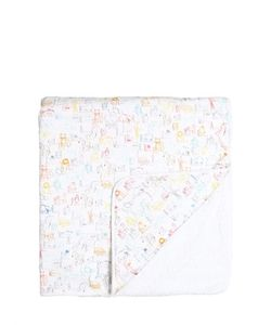 Paul Smith Junior | Cotton Jersey Terrycloth Towel W/ Hood