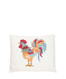 LORETTA CAPONI | Embroidered Rooster Pillow