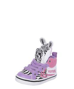 Feiyue | Zebra Cotton Canvas High Top Sneakers