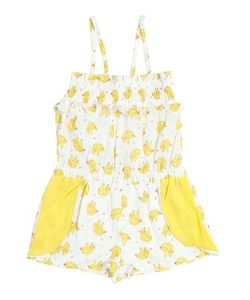 Billieblush | Bananas Printed Cotton Canvas Overalls