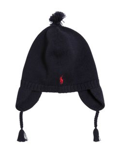 RALPH LAUREN CHILDRENSWEAR | Knitted Cotton Hat W/ Pompom