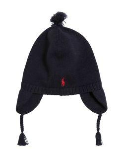 RALPH LAUREN CHILDRENSWEAR | Knitted Cotton Hat W/ Pompom