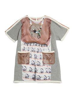 Venera Arapu | Printed Silk Satin Bonded Jersey Dress