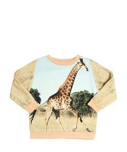 Popupshop   Giraffe Print Organic Cotton Sweatshirt