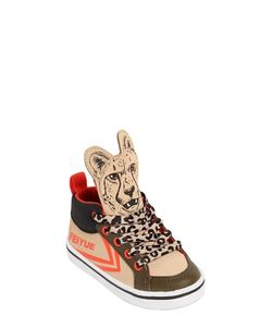Feiyue | Leopard Print Faux Leather Sneakers
