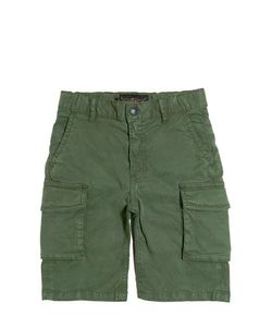 FINGER IN THE NOSE | Stretch Cotton Gabardine Cargo Shorts