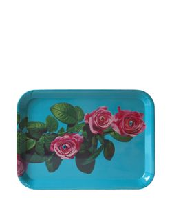 SELETTI WEARS TOILET PAPER | Roses Printed Tray