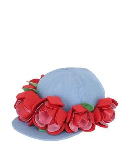 FRANCESCO BALLESTRAZZI | Baseball Hat W/ Rose Appliqués