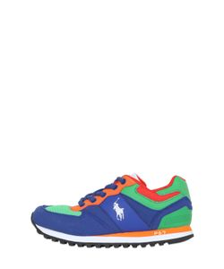 RALPH LAUREN CHILDRENSWEAR | Mesh Faux Leather Running Sneakers