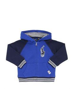 RALPH LAUREN CHILDRENSWEAR | Logo Patch Cotton Zip Up Sweatshirt
