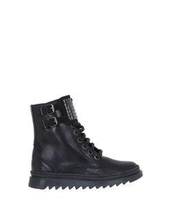 MANUELA DE JUAN | Embellished Leather Ankle Boots