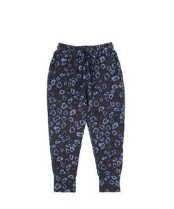 ANNE KURRIS | Leopard Printed Cotton Jogging Pants