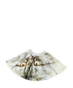 Popupshop | Cat Eye Printed Cotton Fleece Skirt