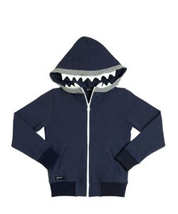 YPORQUÉ | Teeth Hooded Cotton Zip-Up Sweatshirt