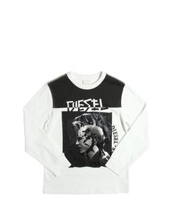 Diesel Kids | Mohican Printed Cotton Jersey T-Shirt