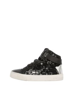 Crime | Sequined Flocked High Top Sneakers