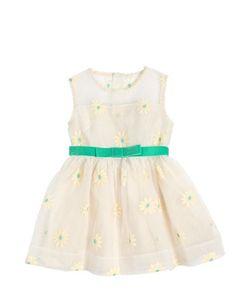 CARAMEL BABY AND CHILD   Daisy Flocked Silk Organza Dress