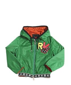 RICHMOND JUNIOR | Nylon Windbreaker With Patches