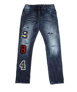 Diesel Kids | Patches Stretch Cotton Blend Joggjeans