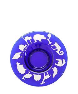 EGIZIA   Aia Glass Dish With Silver Design