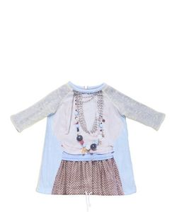 Venera Arapu | Cotton Blend Knit Printed Nylon Dress