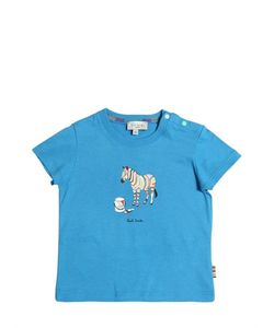 Paul Smith Junior | Zebra Printed Cotton Jersey T-Shirt