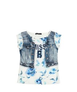 Blumarine Jeans | Printed Satin Cotton Jersey Dress