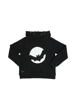 YPORQUÉ | Bat Printed Cotton Hooded Sweatshirt