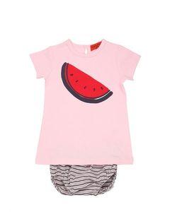 Rykiel Enfant | Watermelon Jersey Dress Diaper Cover