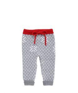 FILOBIO   Snowflake Jacquard Merino Wool Pants