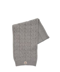Moncler | Wool Tricot Cable Knit Scarf