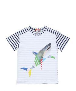 ANNE KURRIS | Shark Printed Cotton Jersey T-Shirt