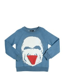 YPORQUÉ | Yeti Printed Cotton Sweatshirt W/Tongue