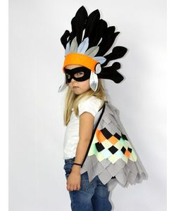 SPARROW & B | Bird Wings Mask Headdress Costume Set