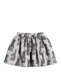 FINGER IN THE NOSE | Bunny Printed Cotton Skirt