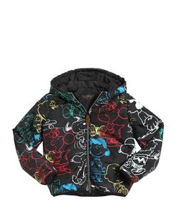 FINGER IN THE NOSE | Snoopy Printed Nylon Padded Jacket