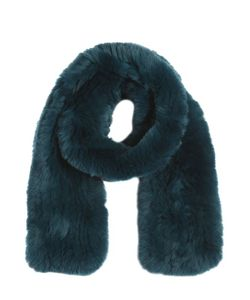 YVES SALOMON ENFANT | Knitted Rex Fur Scarf