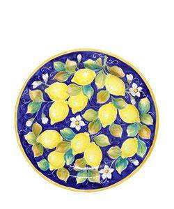 CERAMICHE PUGI | Lemon Majolica Ceramic Plate