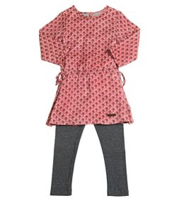 STICKY-FUDGE   Cotton Drill Dress Knitted Leggings