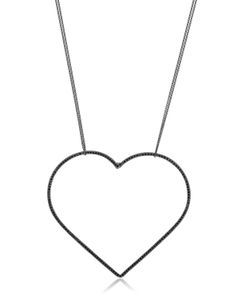 Seeme | Spinel Heart Long Chain Necklace
