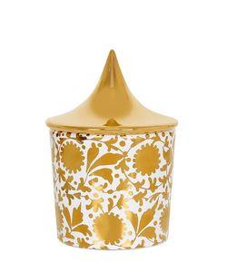 CERAMICA GATTI 1928 | Floral Design Candle W/ Gold Lid