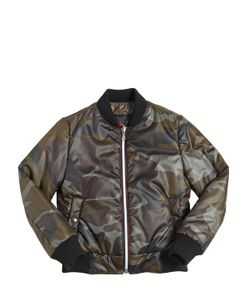 RICHMOND JUNIOR | Camouflage Printed Nylon Down Jacket