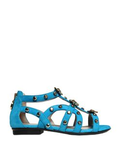 Young Versace | Studded Suede Sandals