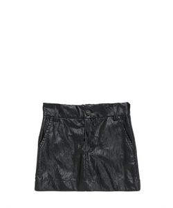 ANNE KURRIS | Faux Leather Cotton Skirt