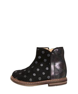 Pom D'Api | Polka Dot Printed Suede Ankle Boots