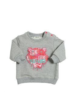 Kenzo Kids | Logo Embroidered Cotton Sweatshirt