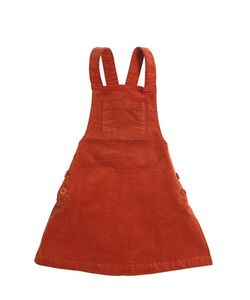 Nice Things Mini | Cotton Velvet Overall Dress