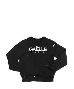 GAELLE PARIS | Destroyed Cotton Sweatshirt