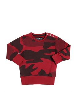 HYDROGEN KID | Camouflage Print Cotton Sweatshirt