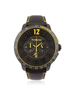 TENDENCE | Carbon Fiber Chr Black Yellow Watch